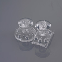 EZ Fit Clear Transparent Composite Bondable Lingual Buttons (20)