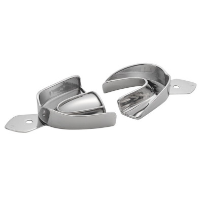 Stainless Steel Full Arch Solid Impression Trays