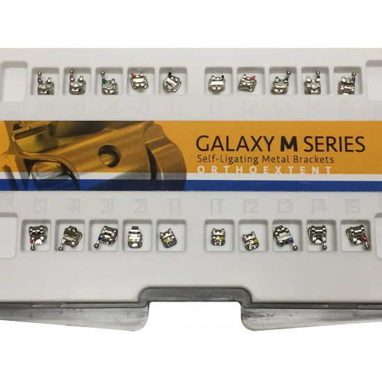 Galaxy M Series Interactive Self-Ligating Orthodontic Metal Brackets | Upper/Lower 3-3