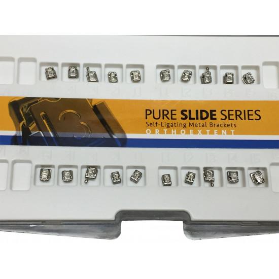 Pure Slide Passive Self-Ligating Metal Brackets Roth .022 Upper/Lower 5x5