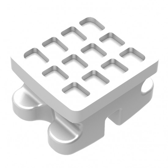 Clear Ice Polycrystalline Ceramic Brackets | Upper/Lower 3-3