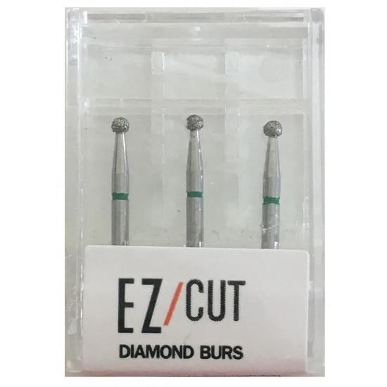 EZ/Cut Multi Use Diamond Bur Round Coarse FG 801-016C