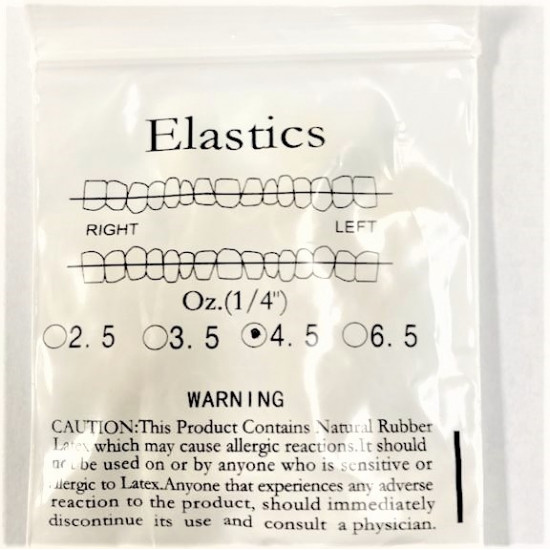 Orthodontic Intra-Oral Elastics - Medium Force 4.5 oz